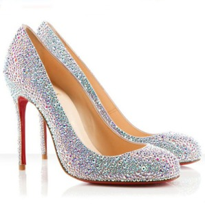 Christian Louboutin Fifi 100mm Aurora Evening Pumps Boreale